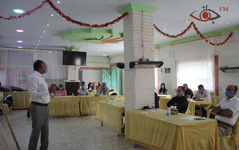 قضايا النازحين والعملية السياسية في جدول الورشة الثالثة لمنظمة برجاف