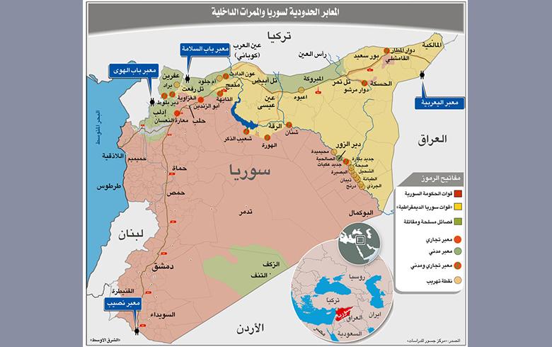 احتدام الصراع على «معابر» سوريا... وممراتها