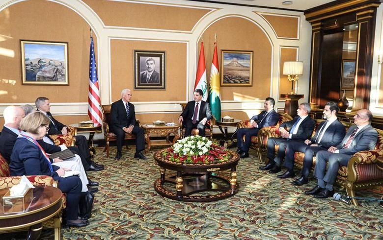 نائب الرئيس الأمريكي   مايك بنس في زيارة إلى إقليم كوردستان