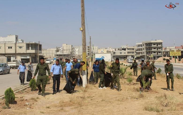 بالصور...حملة النظافة التي تقوم بها قوات الاسايش في كوباني