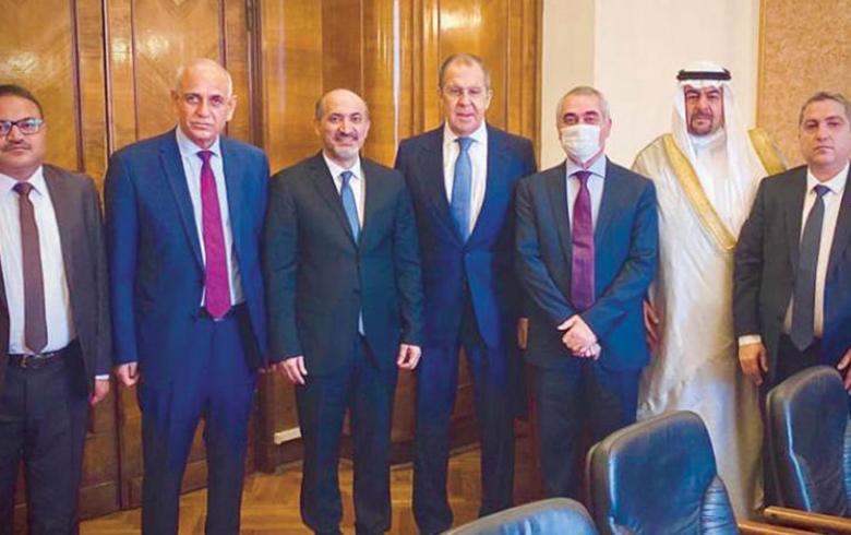 لافروف يستقبل وفد «السلام والحرية» برئاسة الجربا