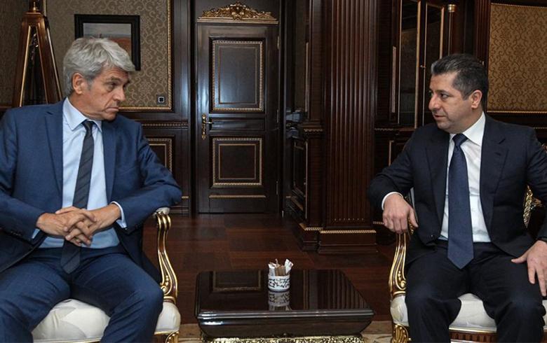 بارزاني وأوبير: التصعيد في سوريا لا يخدم أحد وسيفجر موجة نزوح للكثيرين