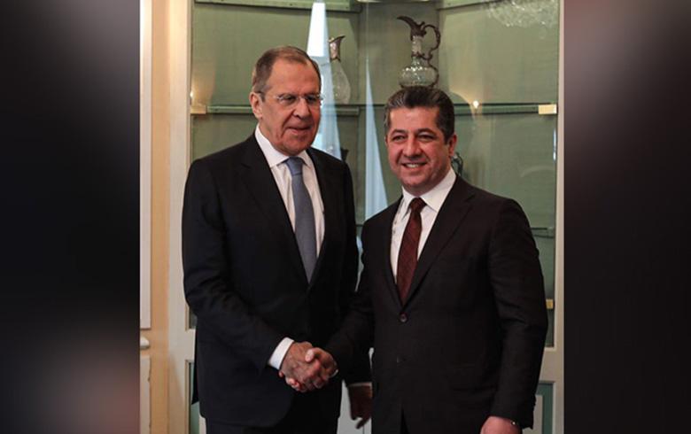 مسرور بارزاني ولافروف يشددان على ضرورة الحل السلمي في سوريا
