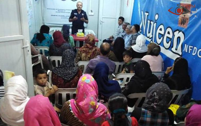 تمكين المرأة هو نشاط الاساسي لمنظمة نوجين في مخيم دوميز