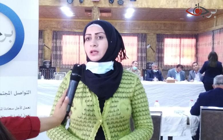 همرين رمضان لبرجاف: هذه الجلسات التي تقيمها برجاف هي الداعم الاساسي وترفع من معنويات الناس المتواجدة في هذه المناطق