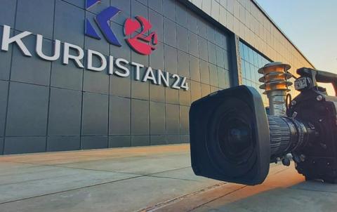 الإدارة الذاتية توقف عمل قناة كُردستان ٢٤