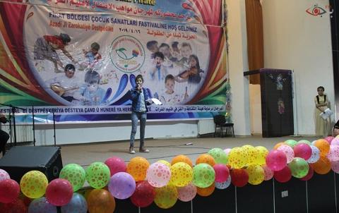 مهرجان الأطفال الثالث في مركز باقي خدو لعرض مواهبهم وإبداعاتهم