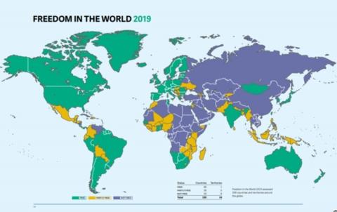 مؤشر الحرية العالمي.. وسوريا تحتل المرتبة 25